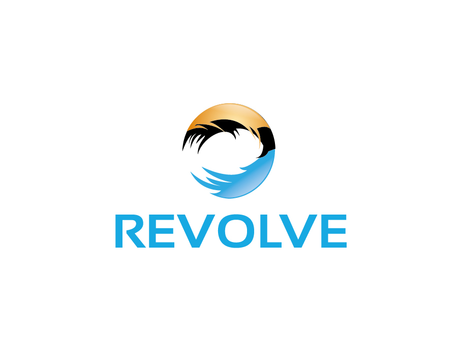 Revolve Logo – Abstract Circular Wave