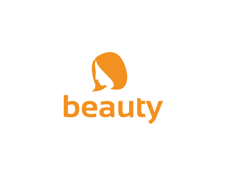 Beauty Logo – Abstract Woman in Monochromatic Style