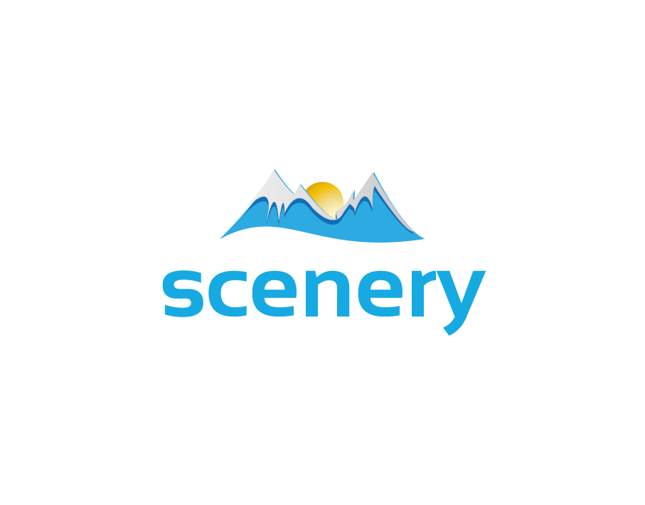 Scenery Logo – Mountain Landscape