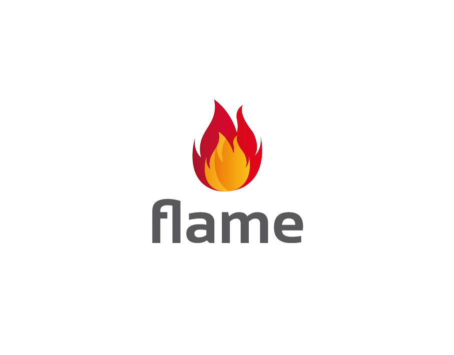 Flame Logo – Abstract Illustrated Fire Flame