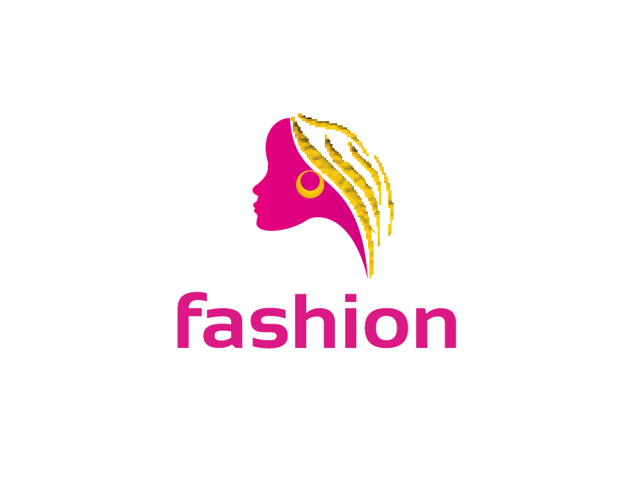 Fashion Logo – Abstract Fashionable Woman in Bright Colours