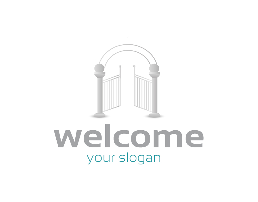 Welcome Logo – Open Gates with Arch