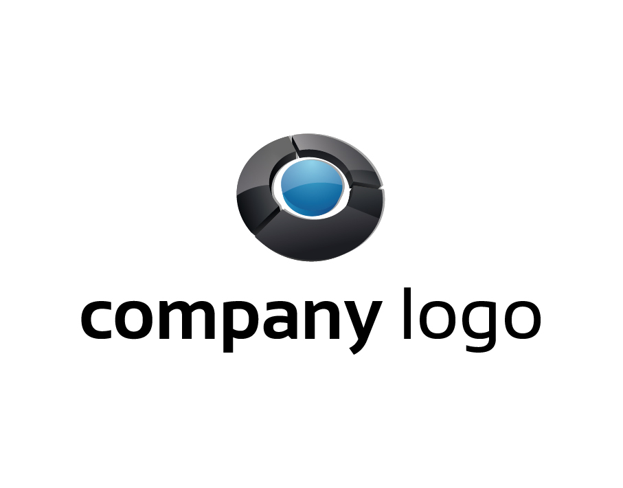 Company Logo – Abstract Target in Black and Blue