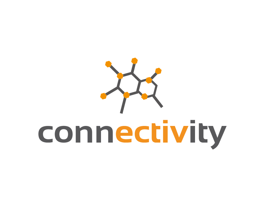 Connectivity Logo with Chemical Compound Icon
