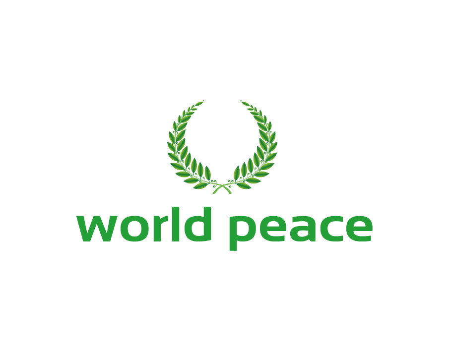 World Peace Logo and Green Laurel