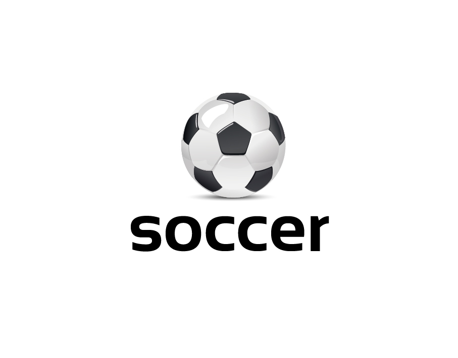 Soccer Logo – Black and White Soccer Ball with Bold Text