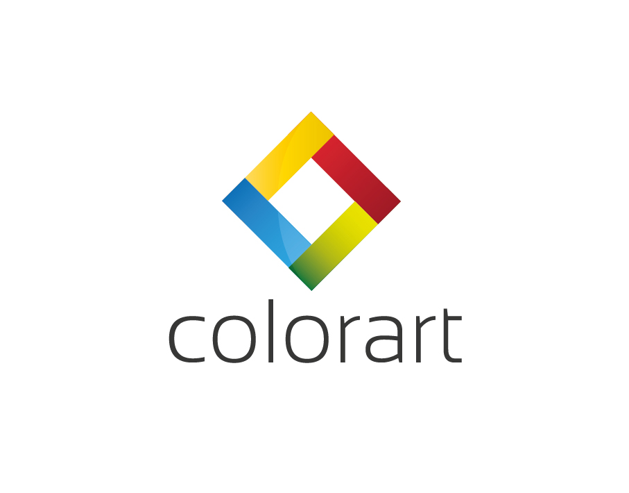 Colorart Logo – Abstract Colorful Square with Black Text